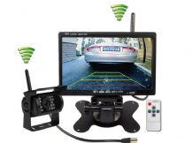"Wireless Reversing Camera + 7"" LCD Colour Monitor 2.4GHz for Van Truck"